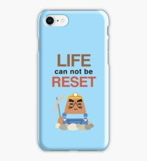 Life Can Not Be Reset! Animal Crossing UNIQLO Resetti Design iPhone Case/Skin