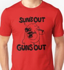 Sun's Out Guns Out Bear Unisex T-Shirt