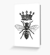 Queen Bee | Black and White Greeting Card