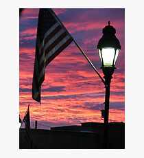 Sunset at Mesilla Photographic Print