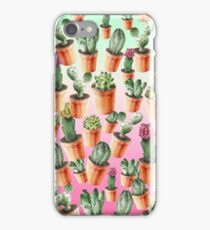 Watercolor Cacti in the Sunset iPhone Case/Skin