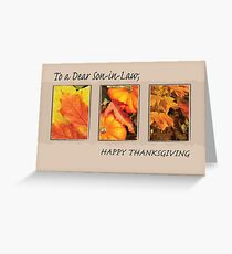 Son-in-Law Religious Three Leaves Thanksgiving Greeting Card