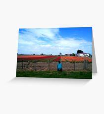 Field of Dreams! - Tulip Plantation - NZ - Southland Greeting Card