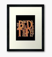 My Beautiful Dark Twisted Fantasy Framed Print