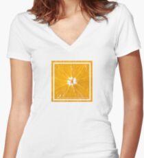 ORANGE FRUIT  Women's Fitted V-Neck T-Shirt