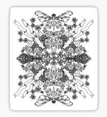 Dragonflies & Fox Skulls Sticker
