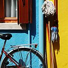 belongings being bicycles brooms and brushes  by ragman