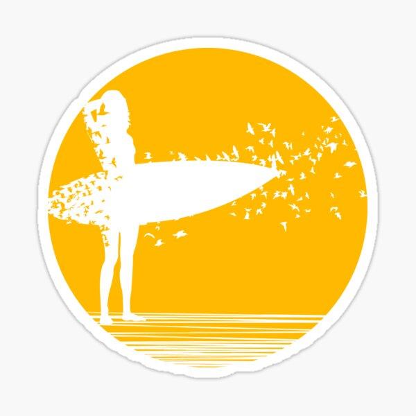 High Quality Pegatina Chica surf v2 Surf Girl Sticker vinyl cut