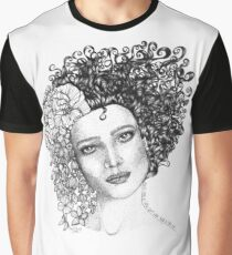 Girl With a Curl Graphic T-Shirt