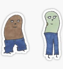 beans with jeans Sticker