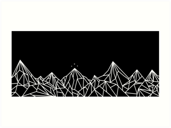 Night Court Mountains Art Prints By Floeing Redbubble