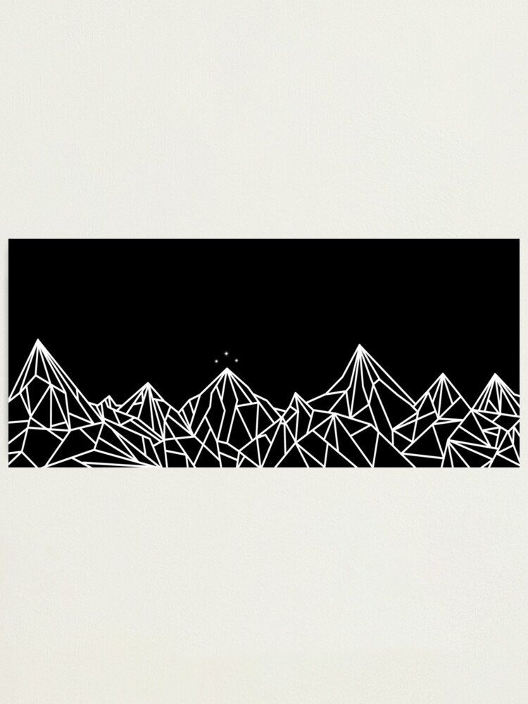Alternate view of NIGHT COURT MOUNTAINS  Photographic Print