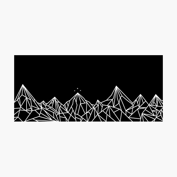 NIGHT COURT MOUNTAINS  Photographic Print