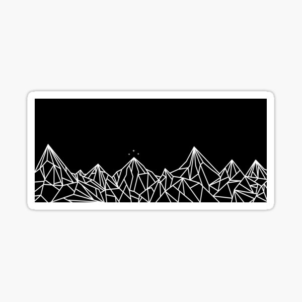 NIGHT COURT MOUNTAINS  Sticker