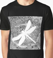 White Dragonfly Graphic T-Shirt