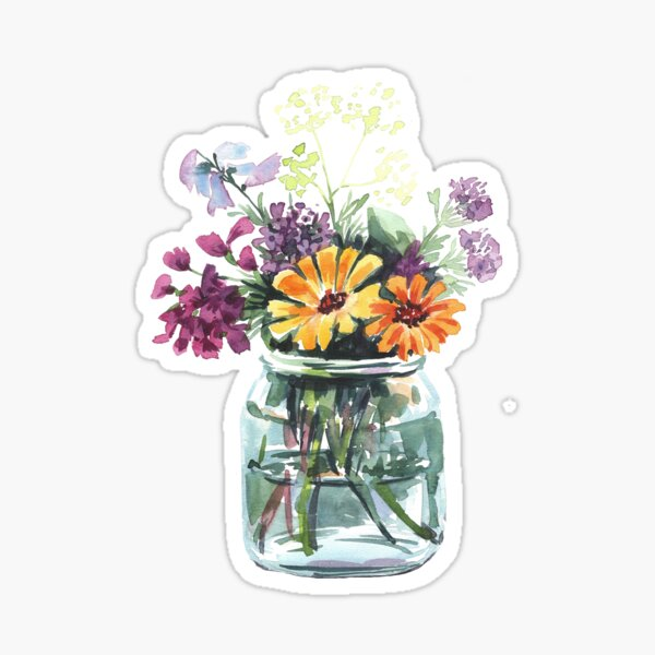 bouquet of wild flowers Sticker