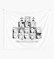 Kingdom hearts II Organization 13 (black and white) Wandbehang