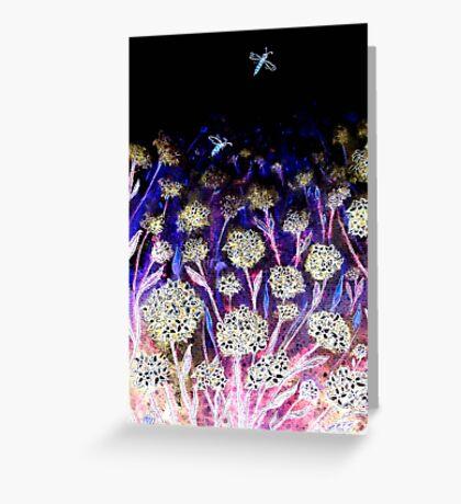 Moonshine Flowers Greeting Card