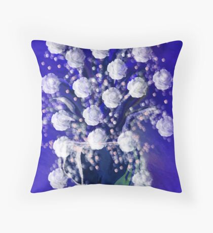 White Rose Just For You Throw Pillow