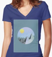 The Bluish Mountains Women's Fitted V-Neck T-Shirt