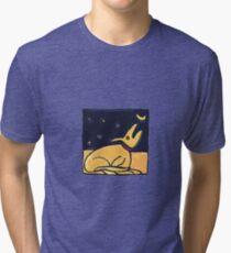 DOG MOON ART  Tri-blend T-Shirt