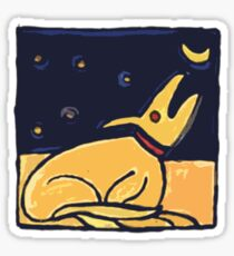 DOG MOON ART  Sticker