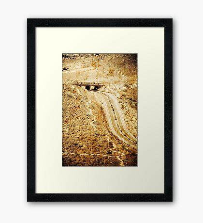 OLD ARIZONA BRIDGE Framed Print