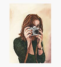 Photographer, watercolour painting by Paris Lomé Photographic Print