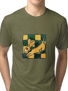 YELLOW DOG JUMP FLY Tri-blend T-Shirt