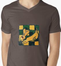 YELLOW DOG JUMP FLY Men's V-Neck T-Shirt