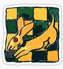 YELLOW DOG JUMP FLY Sticker