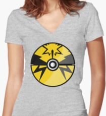 Yellow Team Go! Women's Fitted V-Neck T-Shirt