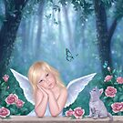 Little Miracles Angel & Kitten by Rachel Anderson