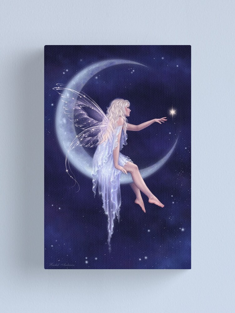 Alternate view of Birth of a Star Moon Fairy Canvas Print