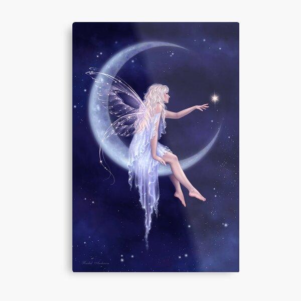Birth of a Star Moon Fairy Metal Print