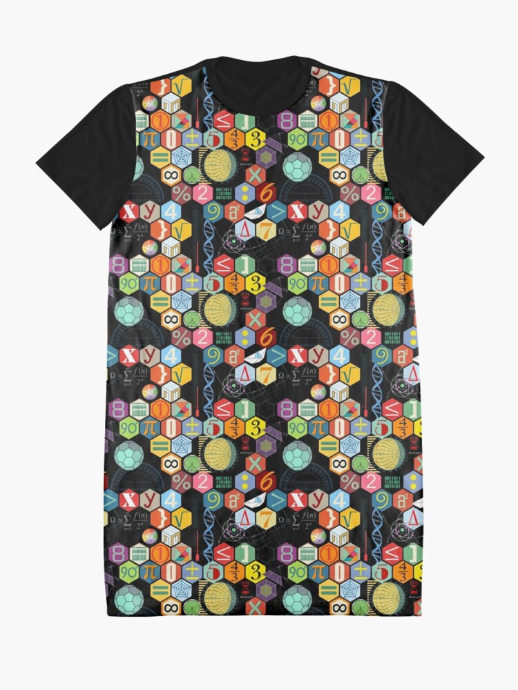 Alternate view of Math in black! Graphic T-Shirt Dress