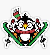 Penguin Ski Jumping Sticker