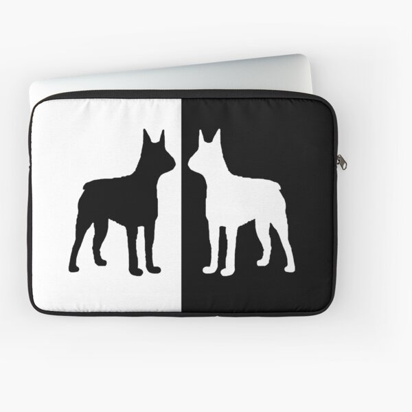 Black white dogs Laptop Sleeve