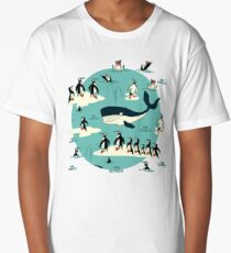 Whales, Penguins and other friends Long T-Shirt