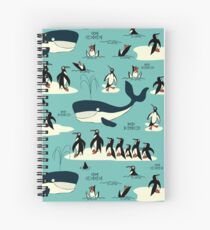 Whales, Penguins and other friends Spiral Notebook