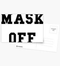 Mask Off - Black Text Postcards