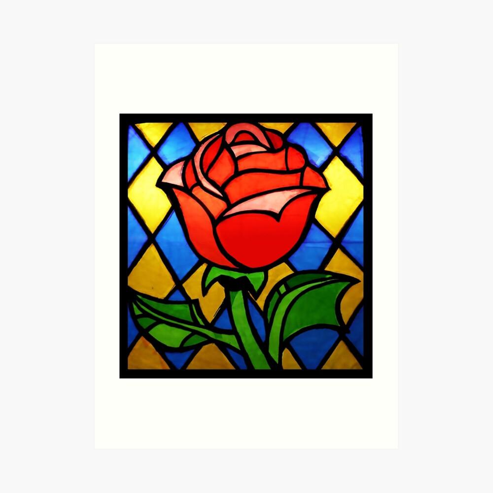 La Bella y la Bestia Rose Lámina artística