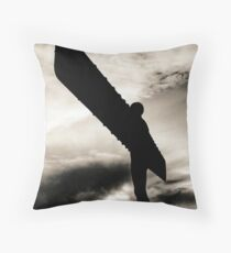 The Angel of the North Throw Pillow