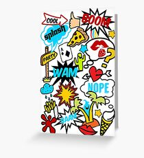 Comic Book, Patches Style, Speech bubble, balloon, Boom, Cartoon, Party Summer, Greeting Card