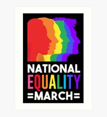 NATIONAL EQUALITY MARCH Art Print