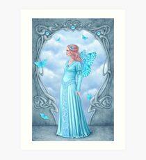 Aquamarine Birthstone Fairy Art Print