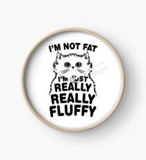 I'm Not Fat I'm Fluffy Cat Clock