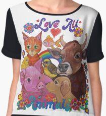 Love all Animals  Chiffon Top