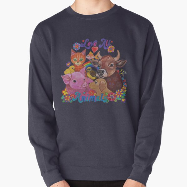Love all Animals  Pullover Sweatshirt