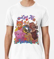 Liebe alle Tiere Premium T-Shirt